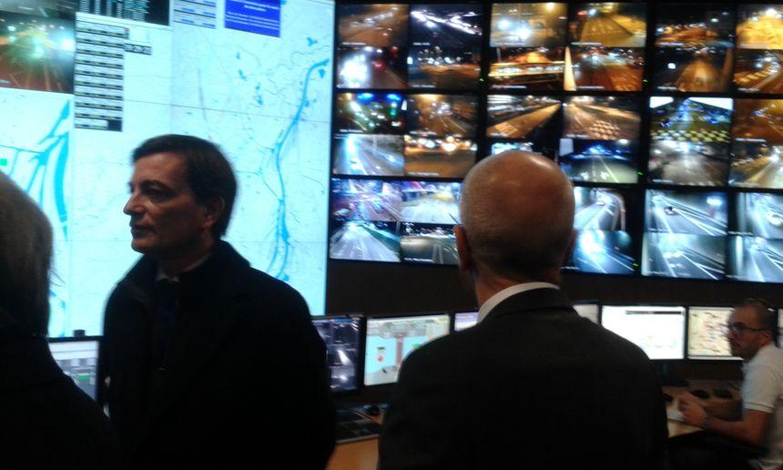 L'un des centres de vidéosurveillance strasbourgeois, le soir du 31 décembre 2017.