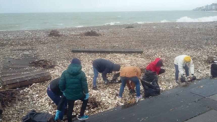 Près de 100m3 de déchets ont été ramassés en une journée sur la plage du Havre