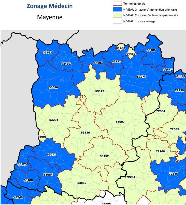 Toute la Mayenne est concernée par le manque de médecins selon l'ARS.