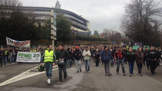 Les manifestants franc-comtois ont défilé dans les rues de Besançon samedi