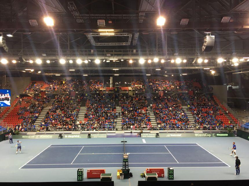 La halle olympique d'Albertville en version tennis