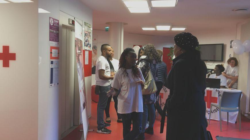 A l'institut de formation de la Croix rouge de Romainville, les étudiants accueillaient les visiteurs.