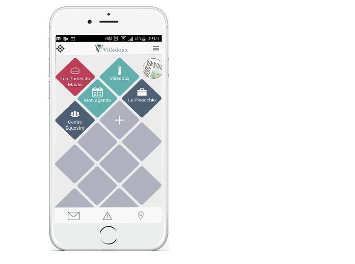 """L'application fonctionne grâce à un système de """"tuiles"""" que l'on ajoute. Capture d'écran Citybay"""