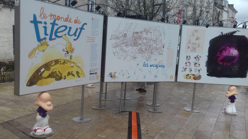 L'expo Titeuf sur le parvis de l'Hôtel de Ville