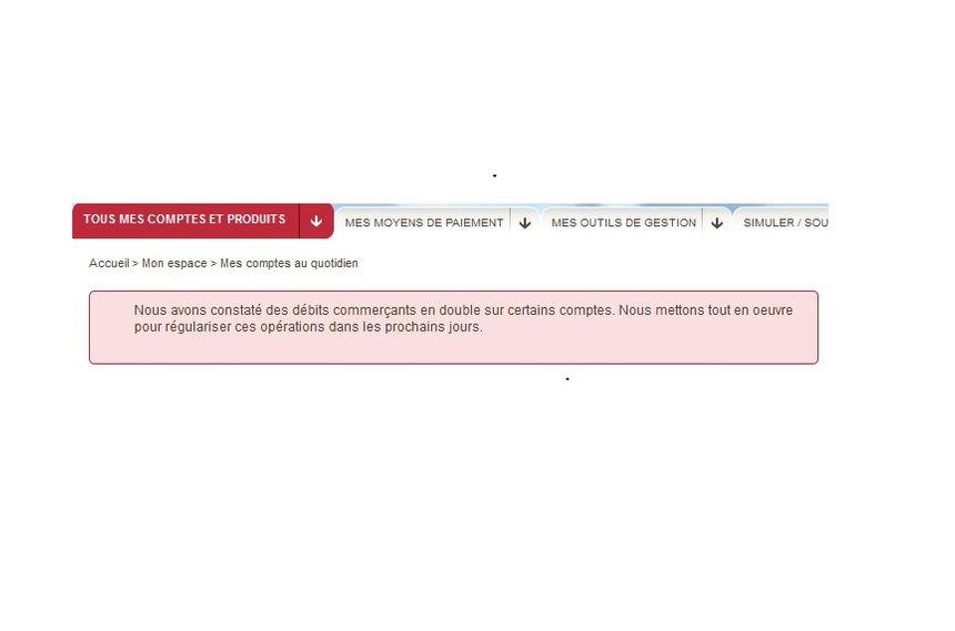 Dès samedi, les clients ont été prévenus avec un message sur le site internet.