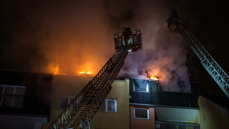 incendie d'un appartement à Alforville
