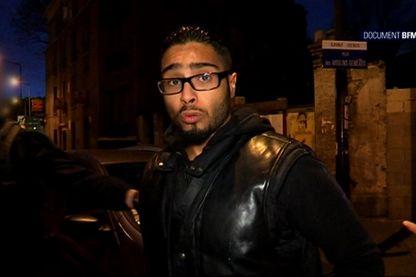 Extrait d'un reportage de télévision de BFMTV, où est inteviewé Jawad Bendaoud, le 18 novembre 2015