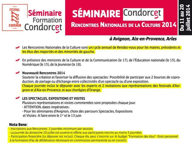 Spectacles, expos, visites : le programme des Rencontres Nationales de la culture de l'Institut Condorcet en 2014