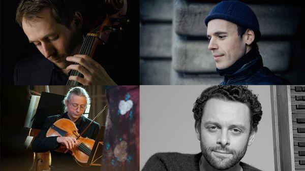 Autour de Szymon Laks ; Marc Mauillon, Benjamin Alard, François Fernandez, Ronan Kernoa (en public au Studio 106)