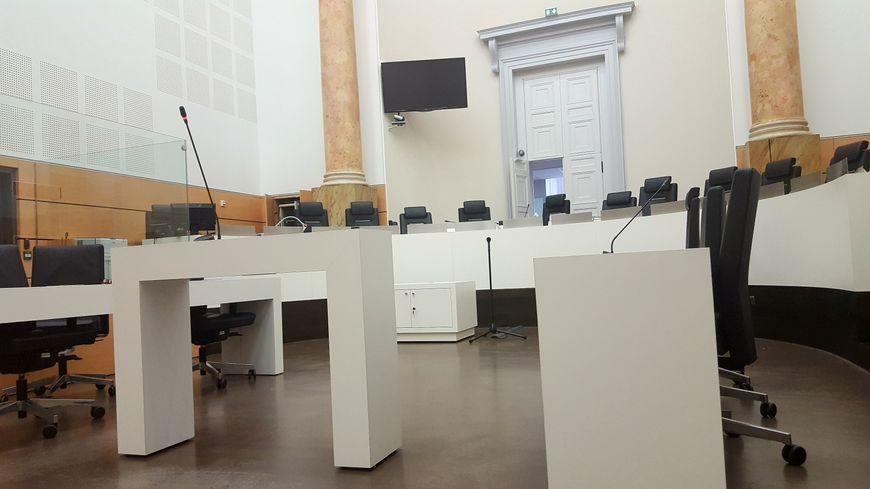 La salle d'audience du palais de justice de Périgueux