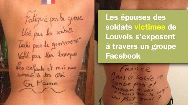 Sur un groupe Facebook, des femmes de soldats en colère contre Louvois et le ministère de la Défense.