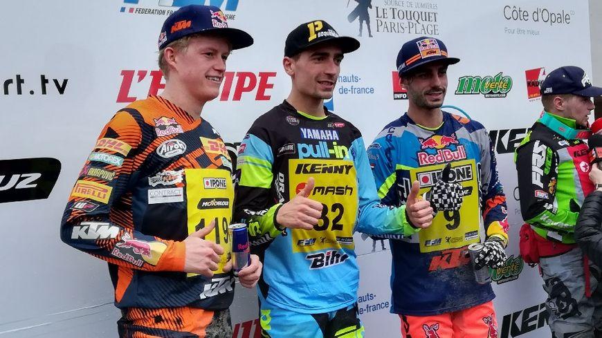 Le podium de cet Enduropale 2018 : Potisek, Watson, Chapelière