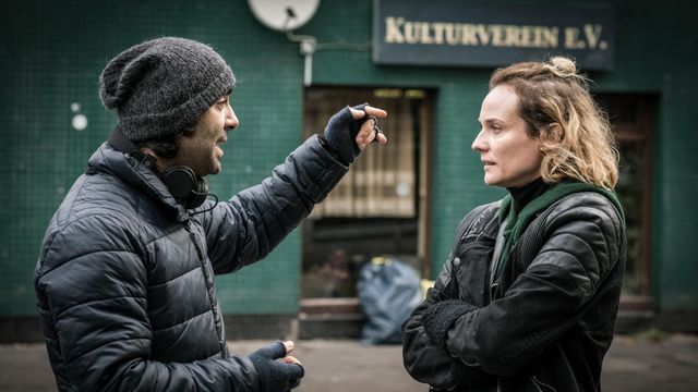 "Fatih Akin et Diane Kruger sur le tournage de ""In the Fade"""