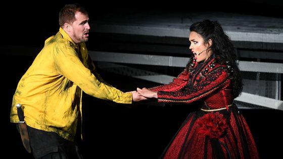 Dabiel Johansson et Gaelle Arquez dans Carmen au festival de Bregenz en Autriche (2017)
