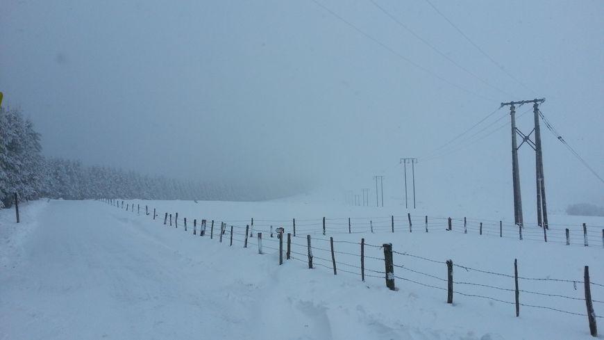 Les cumuls attendus s'élèvent de 50 à 60 cm de neige sur le nord du département, 20 à 40 cm de neige sur l'ensemble de la Lozère.