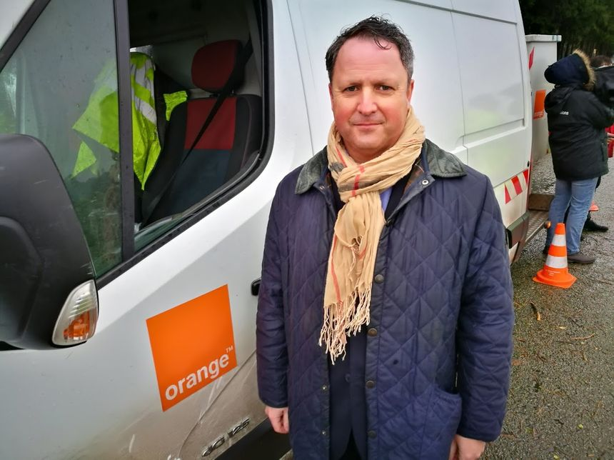 Damien de Kerhor, délégué régional Orange en Bretagne