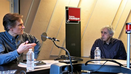 France Musique, studio 152... Philippe Venturini & Gérard Condé, compositeur et critique musical (de g. à d.)