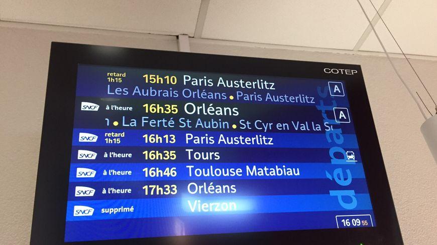 Retards importants à la SNCF au départ de Châteauroux.