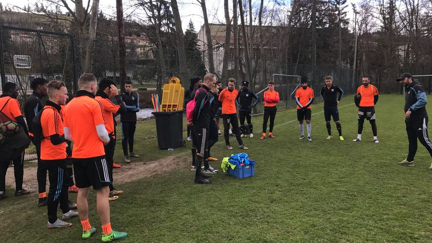Les footballeurs du Puy vendredi lors de leur dernier entrainement