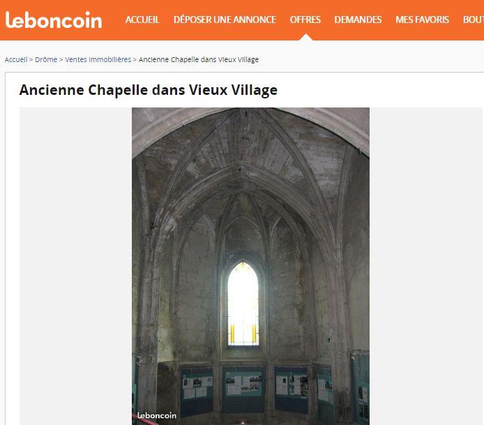 Capture d'écran site internet Leboncoin.