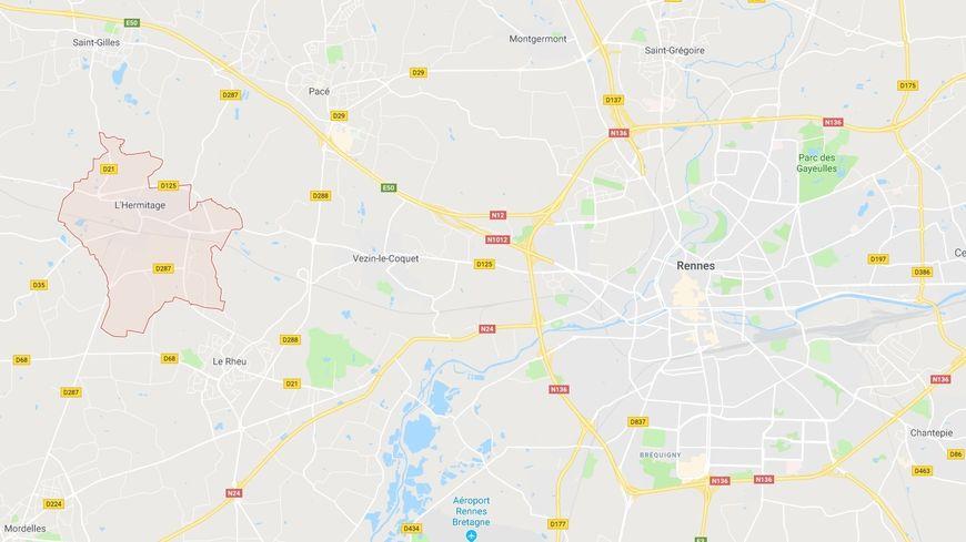Les deux petites filles âgées de 10 ans ont quitté L'Hermitage pour passer la journée à Rennes, sans avertir leurs parents