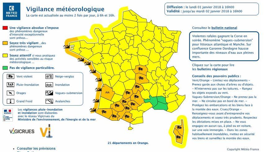 Le Finistère et le Morbihan sont toujours en vigilance orange aux risques de submersion