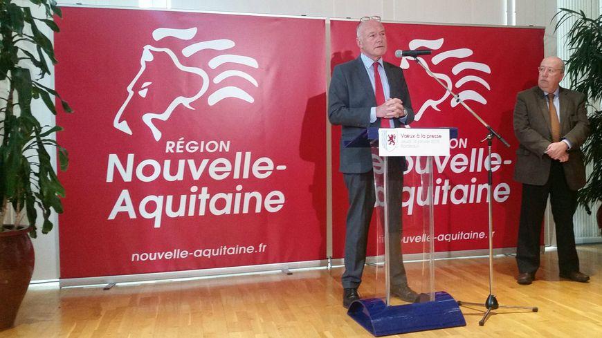 Alain Rousset, lors de la séance de ses voeux à la presse
