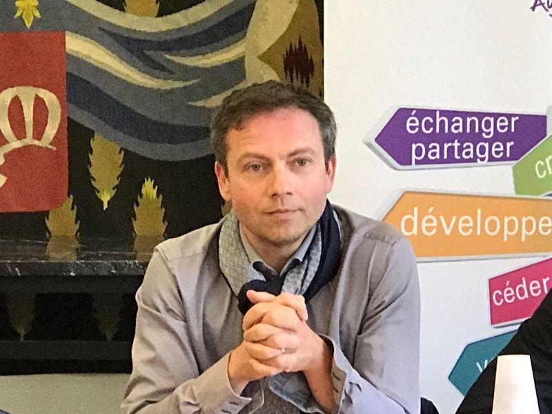 Laurent Communeau, président de l'association Limoges Commerces