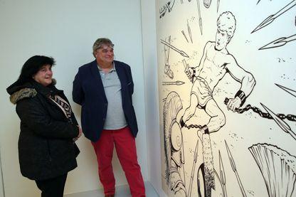 Dans l'exposition Alix à la Cité de la bande dessinée et de l'image à Angoulême