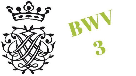 Monogramme de Bach / BWV 3