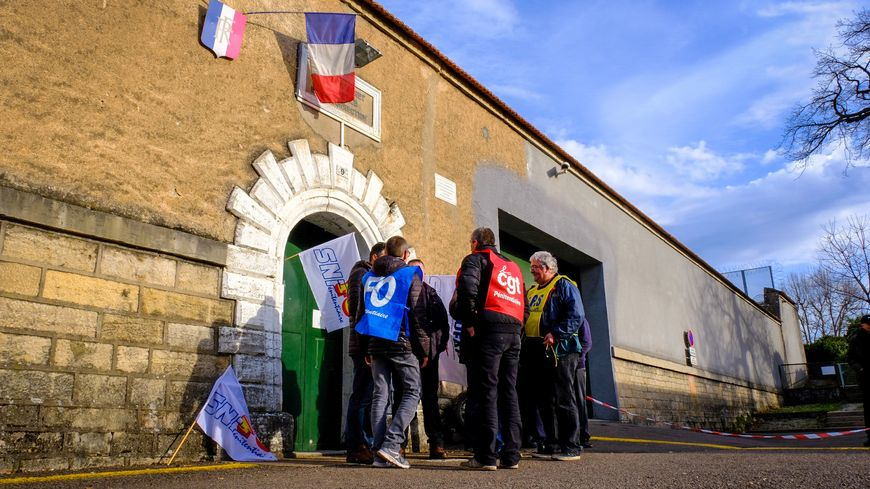 Piquet de grève, maison d'arrêt de Vesoul
