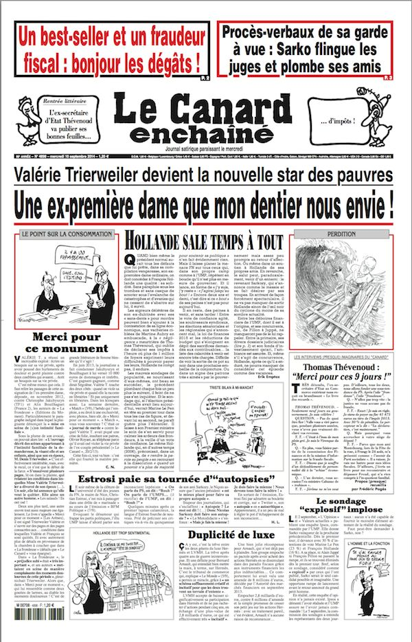 Le Canard Enchaîné (10 septembre 2014)
