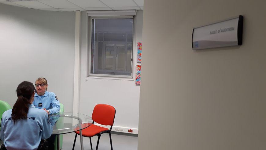 La salle Mélanie au CHU de Rennes où sont auditionnés les enfants victimes ou auteurs de violences