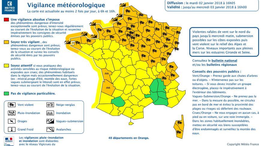 Météo France a placé les Pays de Savoie en alerte orange aux vents violents