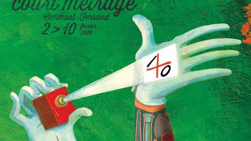 L'affiche du 40e festival international du court métrage de Clermont-Ferrand.