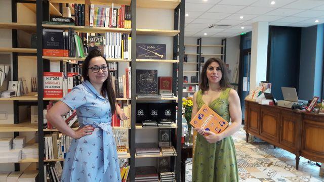 Les deux libraires Clara Da Silva (à gauche) et Audrey Neveu ( à droite).