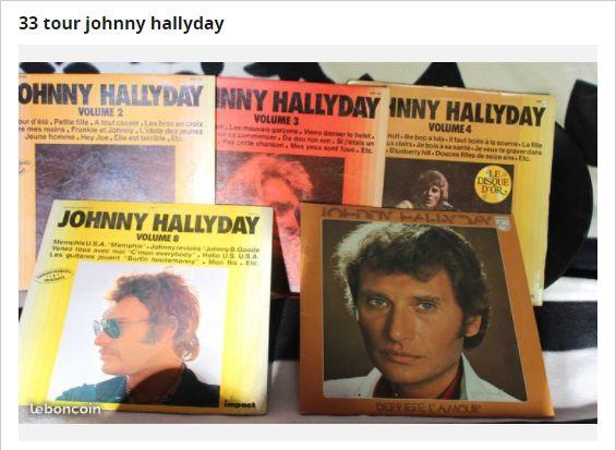 Sur Le Bon Coin, beaucoup de CDs ou de disques vinyles de Johnny Hallyday.