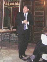 Christian Lochon à la Grande Mosquée de Paris