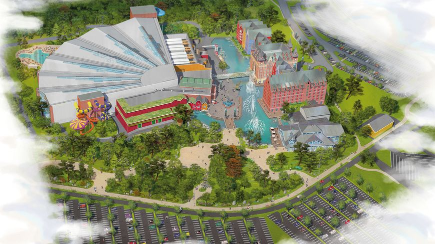 Le futur parc aquatique dont l'ouverture est prévue fin 2019