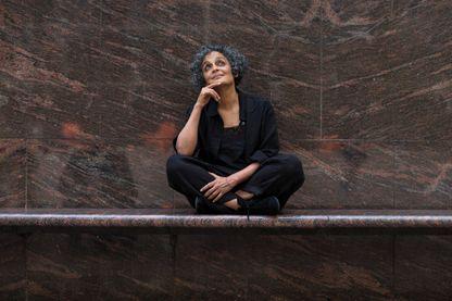 """Arundhati Roy à Barcelone pour la présentation de son nouveau roman """"le ministère du bonheur suprême"""" en octobre 2017"""
