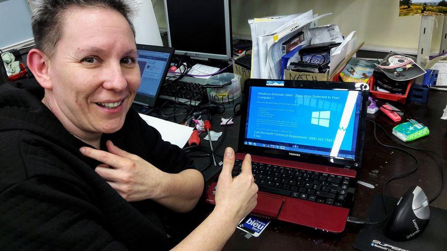 """Nathalie Gallois, experte informatique de France Bleu Berry vous met en garde """"Par principe lorsque votre PC vous demande de composer un numéro, ne le faites pas !"""""""