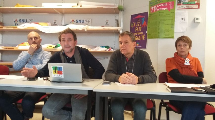 Les représentants de la FSU de l'Académie de Montpellier