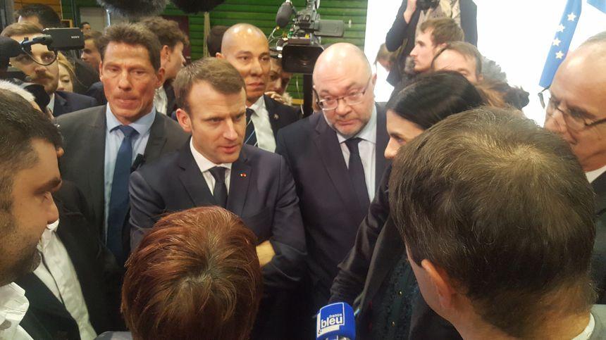 Emmanuel Macron à Saint-Genès-Champanelle