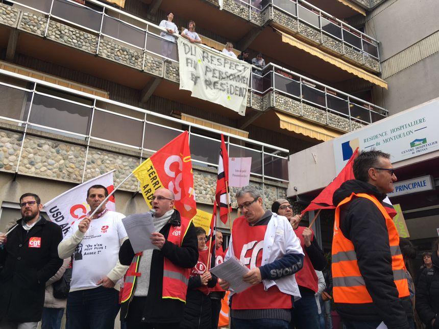 Manifestation ce mardi matin à Privas en Ardèche.