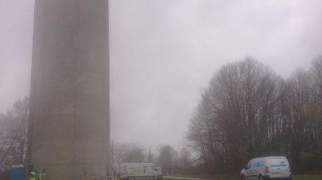 Le château d'eau de Chanteloube, commune de Fresselines, alimente 736 habitants