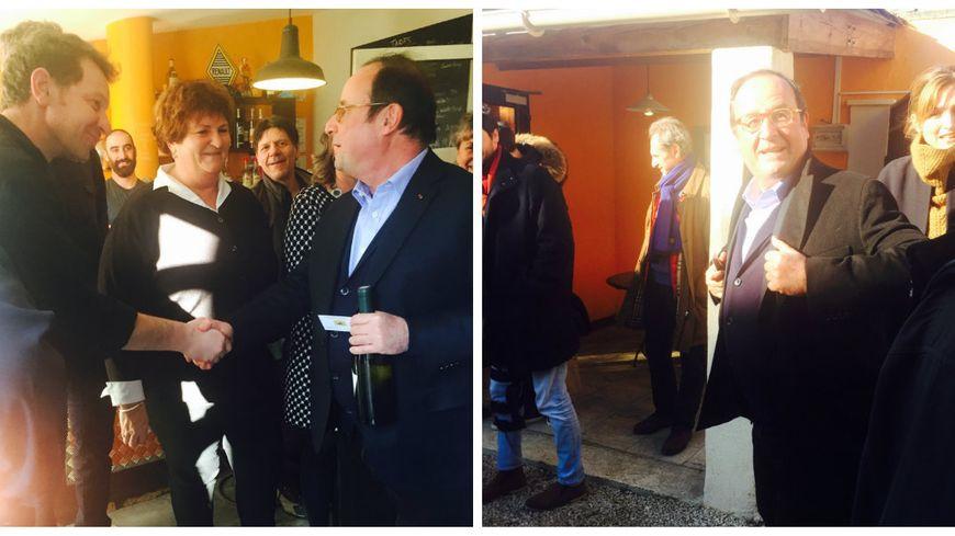 François Hollande est venu manger dans un restaurant de Richerenches