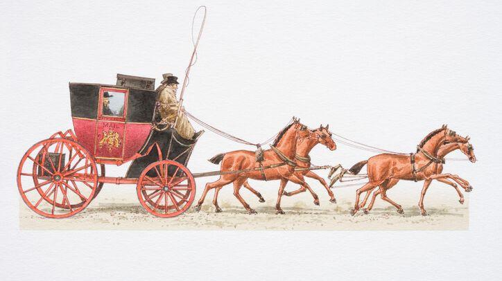 La rue de la Poste aux chevaux nous ramène à l'époque de la poste à cheval
