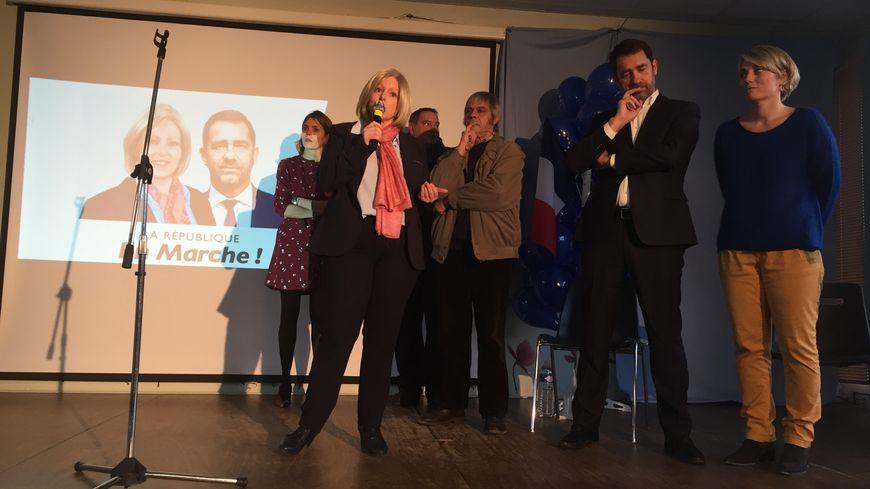 Mélusine Harlé est repartie ce samedi en campagne, en présence du secrétaire d'Etat Chrsistophe Castaner