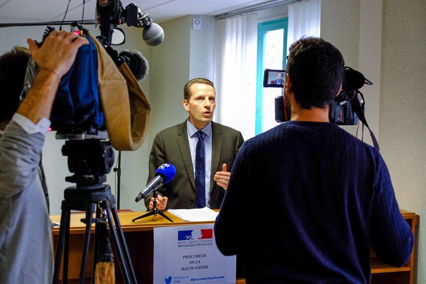 Conférence de presse du procureur de la république de Vesoul Emmanuel Dupic
