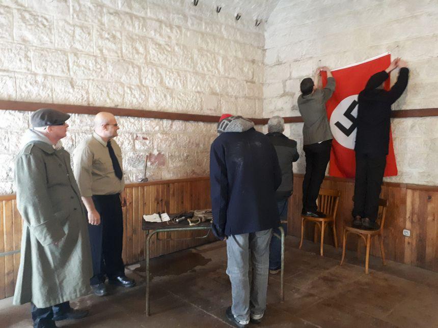 Une trentaine de bénévoles ont participé à la reconstitution de la scène de torture